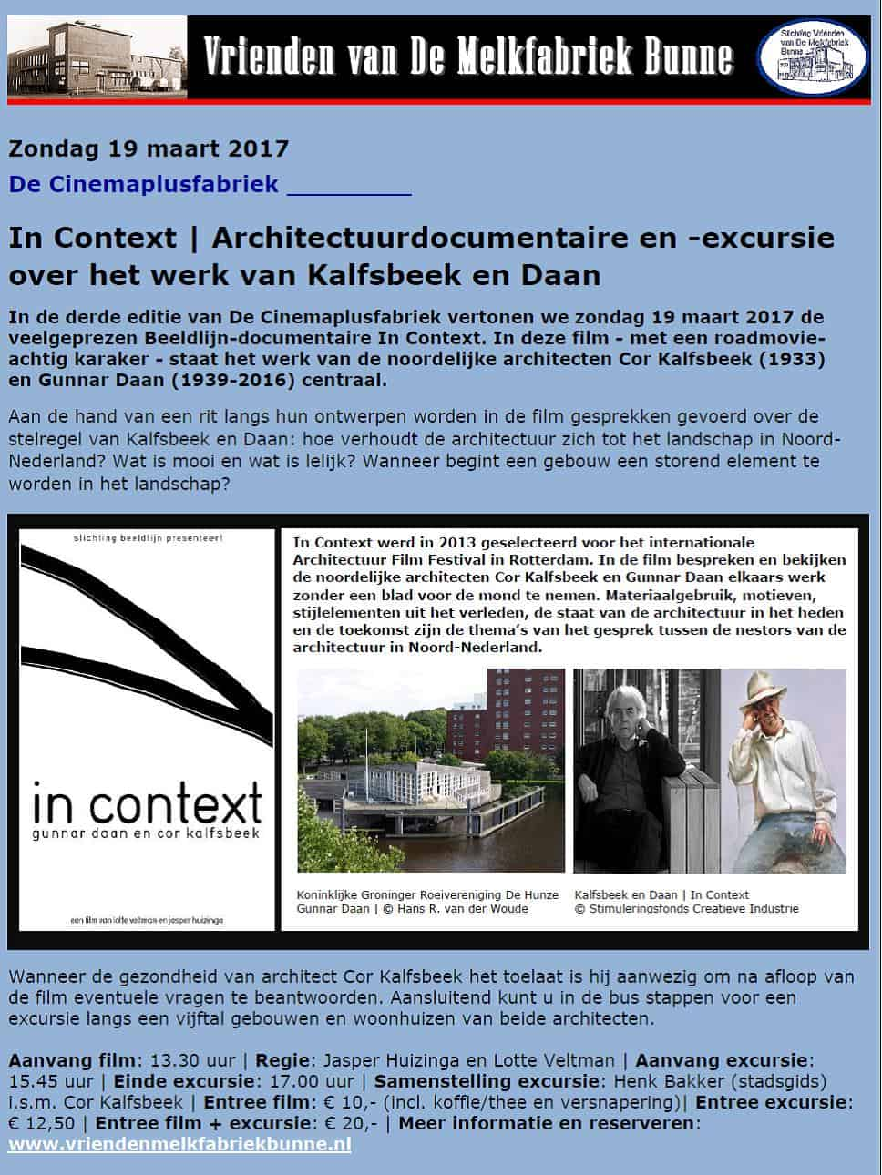 In Context @ De Melkfabriek