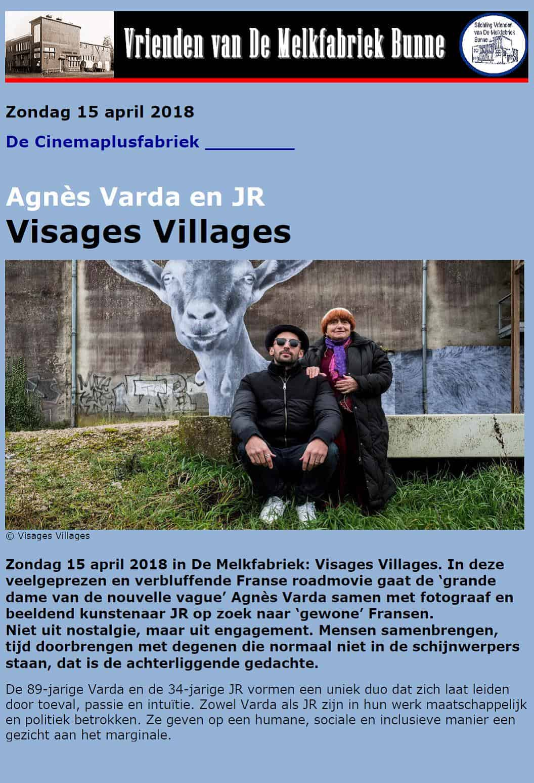 Visages Villages @ De Melkfabriek (Cinemaplusfabriek)